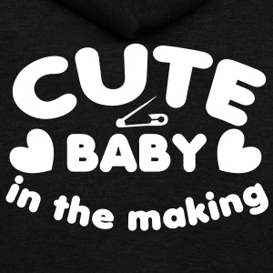cute baby in the making with a safety pin for a young one  Zip Hoodies/Jackets - Unisex Fleece Zip Hoodie by American Apparel
