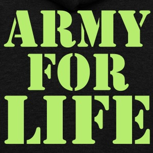 ARMY for LIFE in stencil really bold Zip Hoodies/Jackets - Unisex Fleece Zip Hoodie by American Apparel