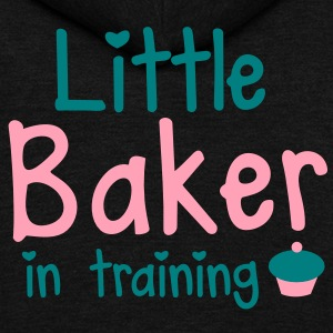little baker in training with a cute cupcake Zip Hoodies/Jackets - Unisex Fleece Zip Hoodie by American Apparel
