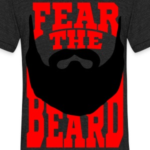 Fear the Beard T-Shirts - Unisex Tri-Blend T-Shirt by American Apparel