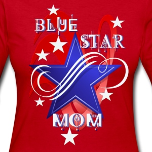 Fancy Blue Star Mom - Women's Long Sleeve Jersey T-Shirt
