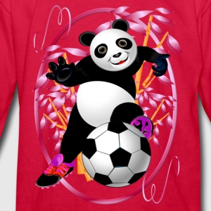 Soccer Panda - Kids' Long Sleeve T-Shirt