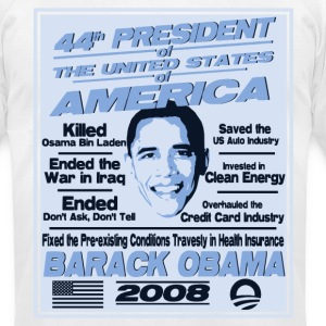 President Obama's Achievements  - Men's T-Shirt by American Apparel