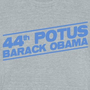 44th POTUS Barack Obama - Unisex Tri-Blend T-Shirt by American Apparel