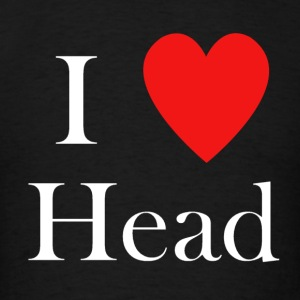i love head heart - Men's T-Shirt