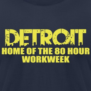 80 Hour Workweek T-Shirts - Men's T-Shirt by American Apparel