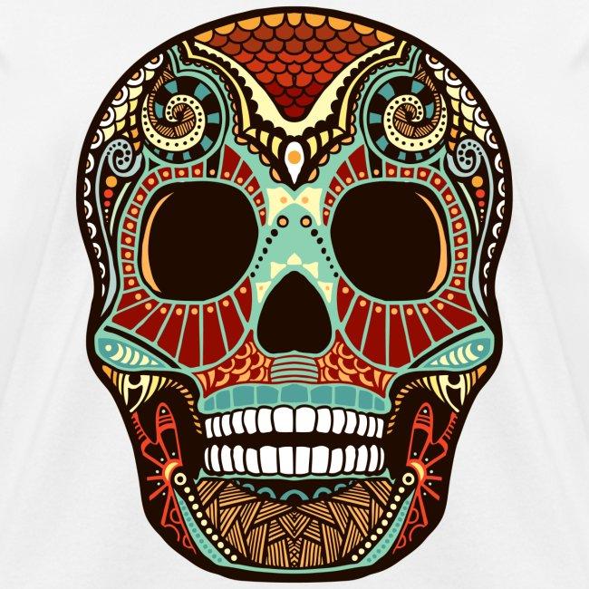 Aztec print skull