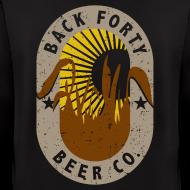 Design ~ Men's Zipper Hoddie BFBC logo (back) Liquid Folk Art (front)