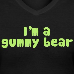 I'm A Gummy Bear Lyrics Women's T-Shirts - Women's V-Neck T-Shirt