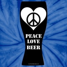 Peace Love Beer Unisex Tie Dye T-shirt