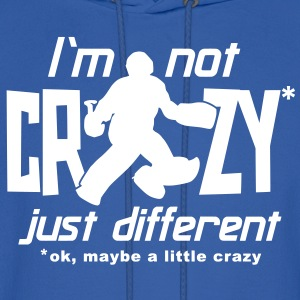 I'm Not Crazy (field hockey) Hoodies - Men's Hoodie
