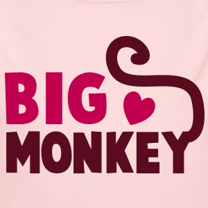 BIG MONKEY with a tail and a love heart good family design Baby & Toddler Shirts - Baby Long Sleeve One Piece