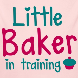 little baker in training with a cute cupcake Baby & Toddler Shirts - Long Sleeve Baby Bodysuit