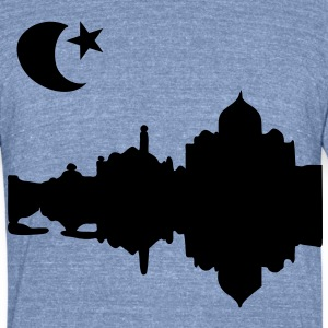 Taj Mahal India Men's Tri-Blend Vintage T-Shirt by American Apparel - Unisex Tri-Blend T-Shirt