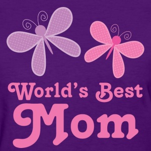 Worlds Best Mom Butterflies Women's T-Shirts - Women's T-Shirt