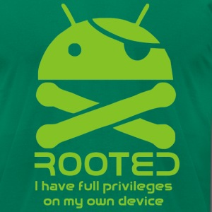 android rooted T-Shirts - Men's T-Shirt by American Apparel