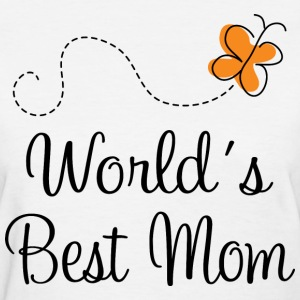Mom (Worlds Best) Butterfly Women's T-Shirts - Women's T-Shirt