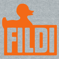 Design ~ FILDI  - Men's TriBlend AA - Orange on Grey