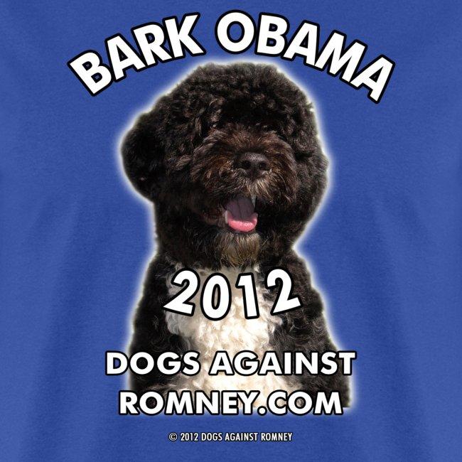"""Official Dogs Against Romney """"Bark Obama"""" Men's Tee"""