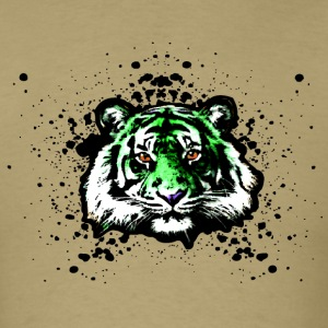 Green Tiger - Graffiti Inspired Graphic - Unisex T-Shirts - Men's T-Shirt