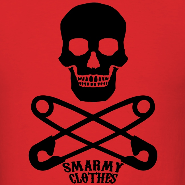 mens Skull n Safety Pins SmarmyClothes tee