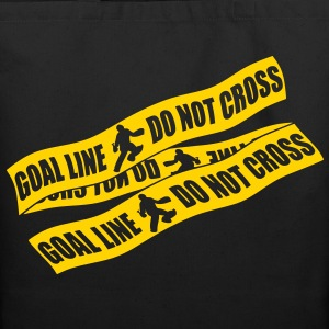 Goal Line Do Not Cross (field hockey) Bags  - Eco-Friendly Cotton Tote