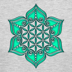 Flower of life, Lotus - Flower, green, Symbol of perfection and balance Long Sleeve Shirts