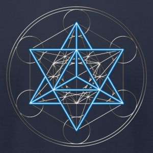 Star Tetrahedron - Merkaba, DD, silver blue,  Flower of Life, Sacred geometry, Platonic Solids T-Shirts - Men's T-Shirt by American Apparel