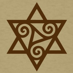 TRISKELE: Yin power symbol, vector, Merkaba, Energy Symbol, Protection Force T-Shirts