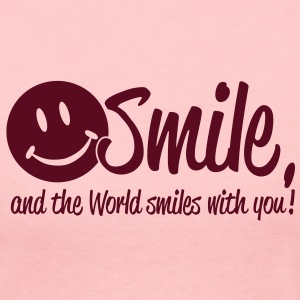 Smile, and the World smiles with you! Long Sleeve Shirts - Women's Long Sleeve Jersey T-Shirt