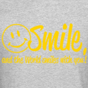 Smile, and the World smiles with you! Long Sleeve Shirts - Crewneck Sweatshirt