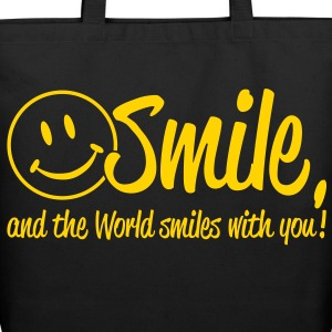 Smile, and the World smiles with you! Bags  - Eco-Friendly Cotton Tote