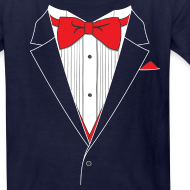 Design ~ Funny Tuxedo T Shirt Youth