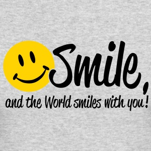 Smile, and the World smiles with you! Long Sleeve Shirts - Men's Long Sleeve T-Shirt by Next Level