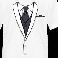 Design ~ Tuxedo T Shirt White Long Tie Youth