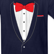 Design ~ Tuxedo T Shirt Classic Red Tie Youth