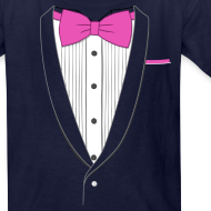 Design ~ Tuxedo T Shirt Classic Pink Tie Youth