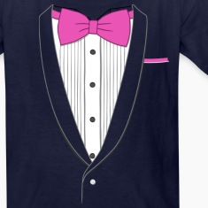 Tuxedo T Shirt Classic Pink Tie Youth