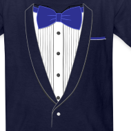 Design ~ Tuxedo T Shirt Classic Navy Tie Youth