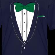 Design ~ Tuxedo T Shirt Classic Green Tie Youth