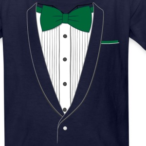 Tuxedo T Shirt Classic Green Tie Youth - Kids' T-Shirt