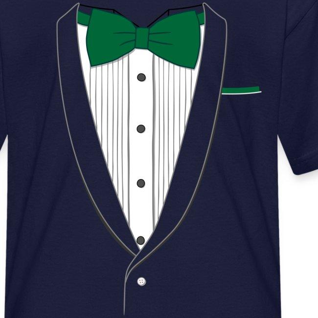 Tuxedo T Shirt Classic Green Tie Youth