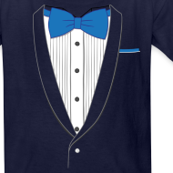 Design ~ Tuxedo T Shirt Classic Blue Tie Youth