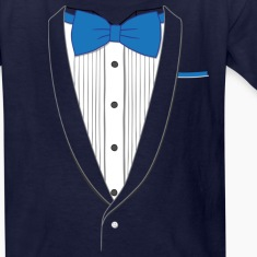 Tuxedo T Shirt Classic Blue Tie Youth