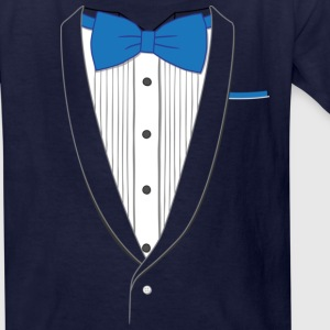 Tuxedo T Shirt Classic Blue Tie Youth - Kids' T-Shirt