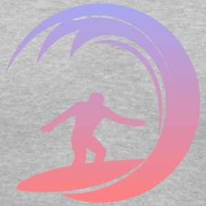 Cool Surfing Shirt - Women's V-Neck T-Shirt