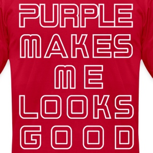 purple T-Shirts - Men's T-Shirt by American Apparel