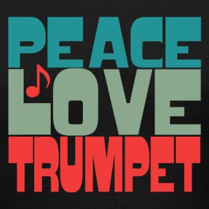 Peace Love Trumpet - Women's V-Neck T-Shirt