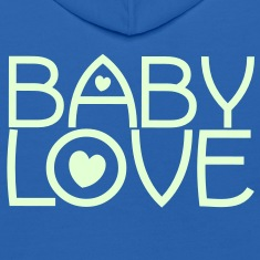 baby love cute font with love hearts lovely! Sweatshirts