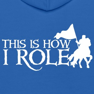 this is how i role - medieval knight on a horse Sweatshirts - Kids' Hoodie